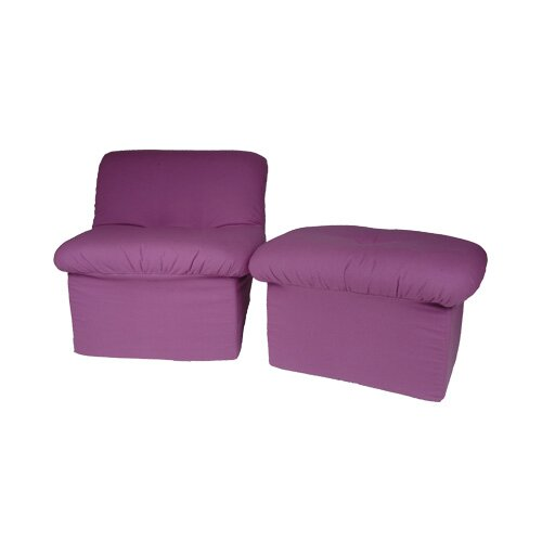 Chenille Teen Cloud Chair and Ottoman Set