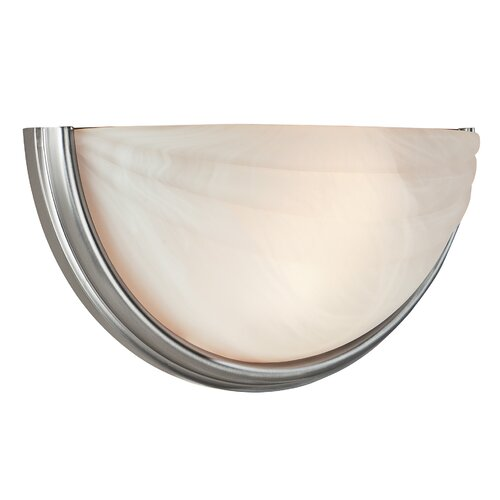 Access Lighting Crest 2 Light Wall Sconce with Alabaster Glass