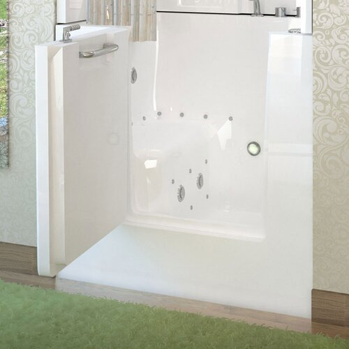 "Therapeutic Tubs Mesa 40"" x 30"" Whirlpool & Air Jetted Walk-In Bathtub"