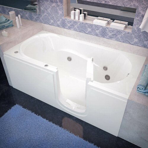 Therapeutic Tubs Stream 60 X 30 Whirlpool Jetted Step In Bathtub