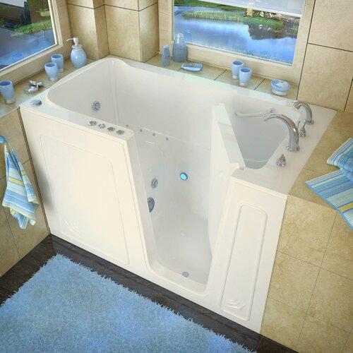 "Therapeutic Tubs Aspen 60"" x 32"" Whirlpool & Air Jetted Walk-In Bathtub"