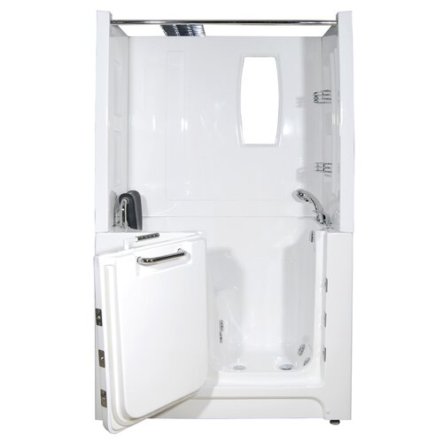 Telluride 47 X 27 Air Jetted Walk In Bathtub With Shower Top Encl