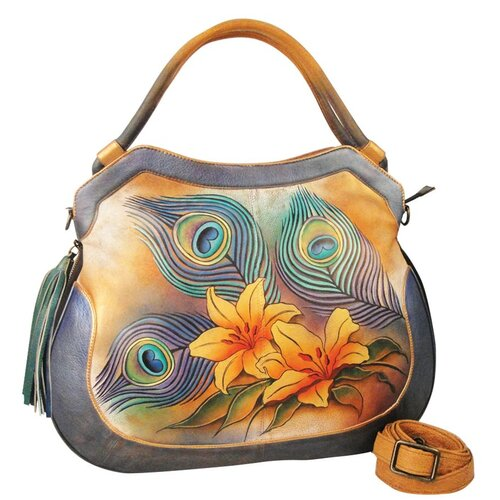 Peacock Lily Shopper Tote Bag