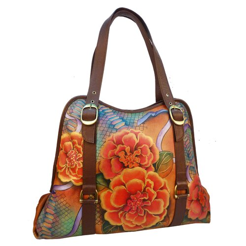 Wide Entry Python Bloom Large Tote Bag