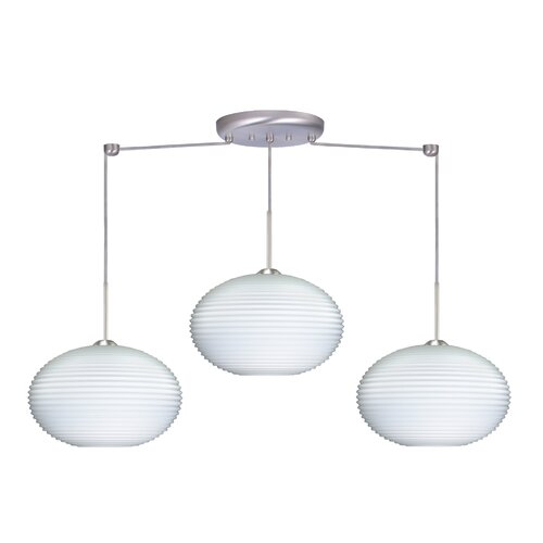 Besa Lighting Pape 3 Light Linear Globe Pendant
