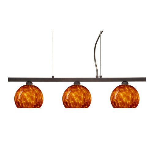 Palla 3 Light Linear Pendant