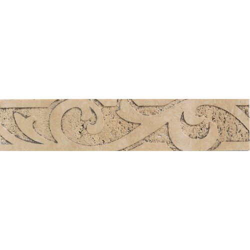 "Mohawk Flooring Natural Bella Rocca 9"" x 2"" Sandblasted Decorative Accent Strip"