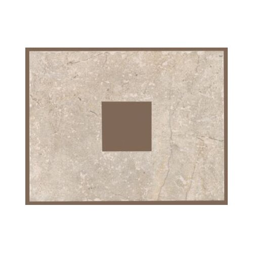 """Mohawk Flooring Rustic Egyptian Stone 13"""" x 10"""" Decorative Square Cut-Out Tile in Ramses White"""