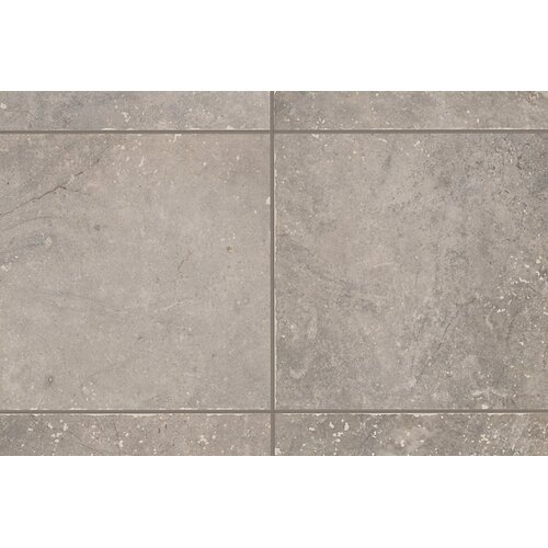 "Mohawk Flooring Rustic Egyptian Stone 6.5"" x 6.5"" Bullnose Tile Trim in Nile Gray"