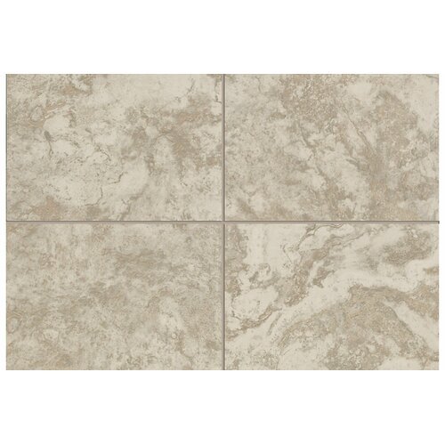 "Mohawk Flooring Natural Pavin Stone 2"" x 2"" Mosaic Bullnose Corner Tile Trim in Gray Flannel"