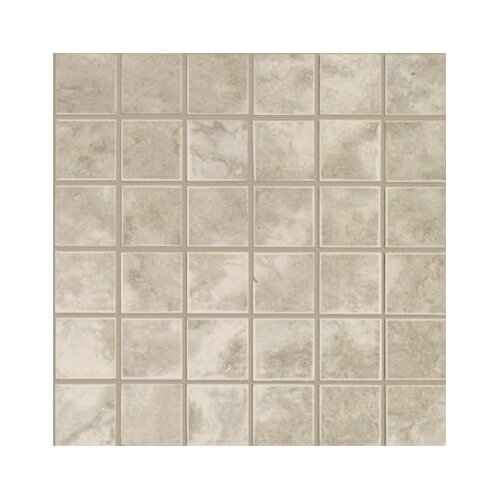 Mohawk Flooring Pavin Stone Mosaic Tile in Gray Flannel