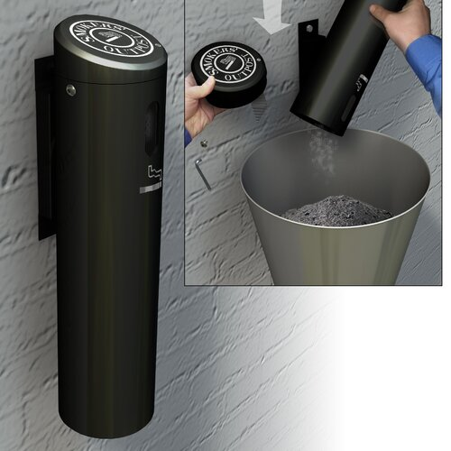 Commercial Zone Secured Wall Mounted Ashtray Outpost Swivel System