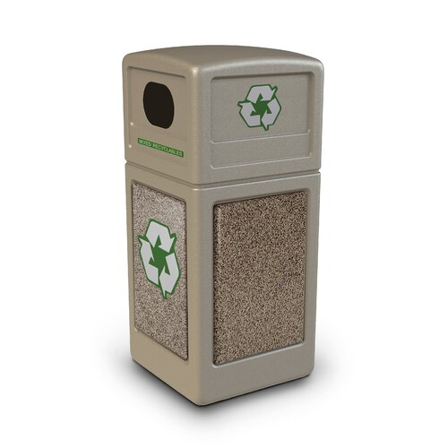 Commercial Zone Stonetec Series 42 Gallon Industrial Recycling Bin