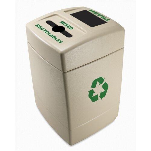 Commercial Zone Green Zone 55 Gallon Multi Compartment Recycling Bin