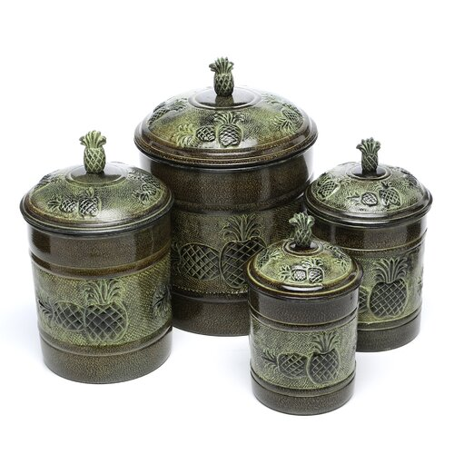 Old Dutch International 4 Piece Pina Fresh Canister Set