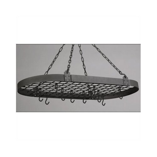 Oval Pot Rack with 12 Hooks