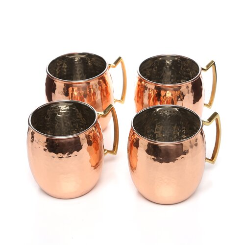 HiMoscow Hammered Mule Mug (Set of 4)