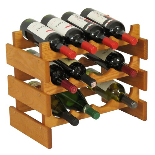 Wooden Mallet Dakota 12 Bottle Wine Rack