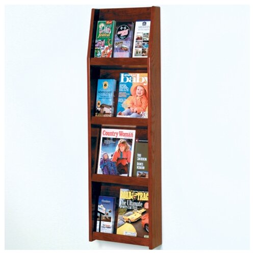 Wooden Mallet 4 Pocket Magazine / 12 Pocket Brochure Wall Display