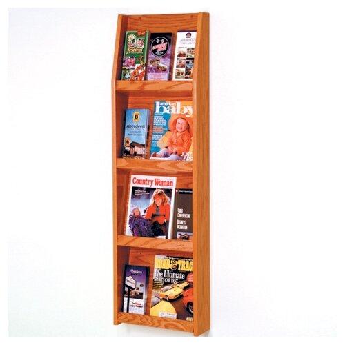 Wooden Mallet 4 Pocket Magazine / 12 Pocket Brochure Wall Display