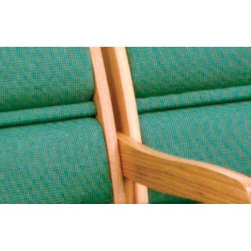 Wooden Mallet Valley Three Seat Guest Chair