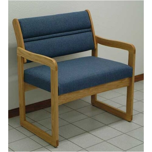 Wooden Mallet Valley Bariatric Guest Chair with Designer Fabric