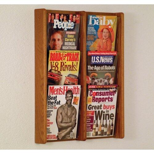 Wooden Mallet 6 Pocket Wall Display