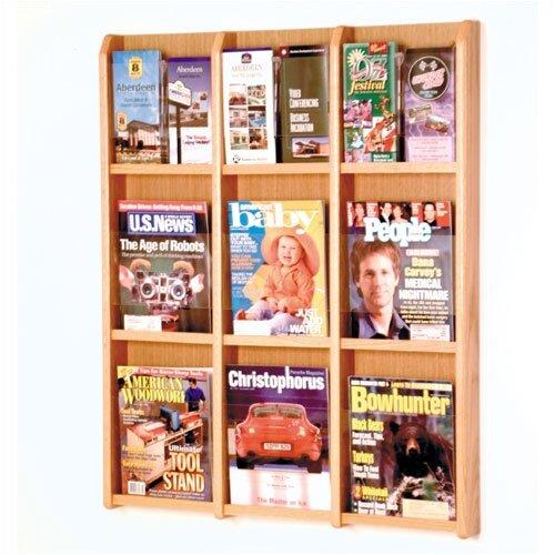 Wooden Mallet 9 Pocket Magazine / 18 Pocket Brochure Wall Display