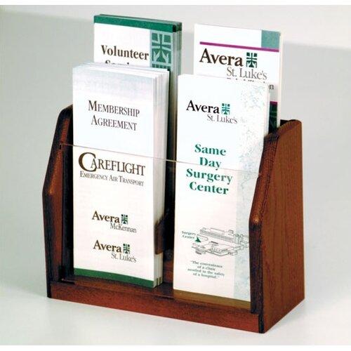 Wooden Mallet Countertop 4 Pocket Brochure Display