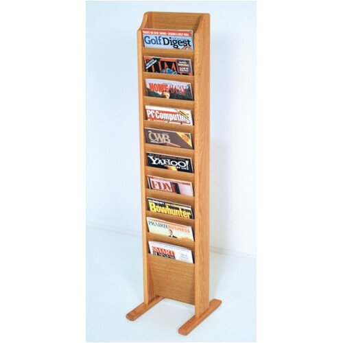 Wooden Mallet 10 Pocket Free Standing Magazine Rack