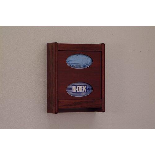 Wooden Mallet Tissue/Glove Box Holder