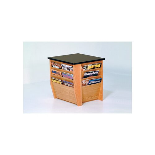 Wooden Mallet Dakota Wave End Table with Magazine Pockets