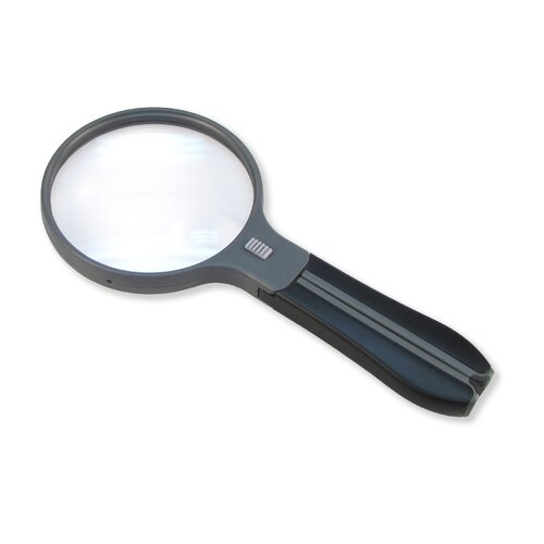Carson MagniFree 2x Split-Handle Magnifier with 3.5x Spot Lens and Neck Cord