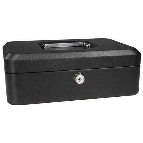 Small Black Cash Box with Key Lock