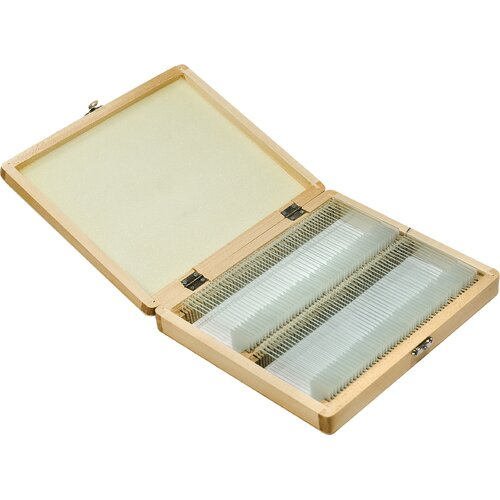 Barska 100 Prepared Microscope Slides with Wooden Case