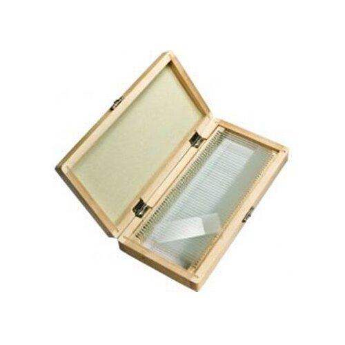 Barska 50 Prepared Microscope Slides with Wooden Case