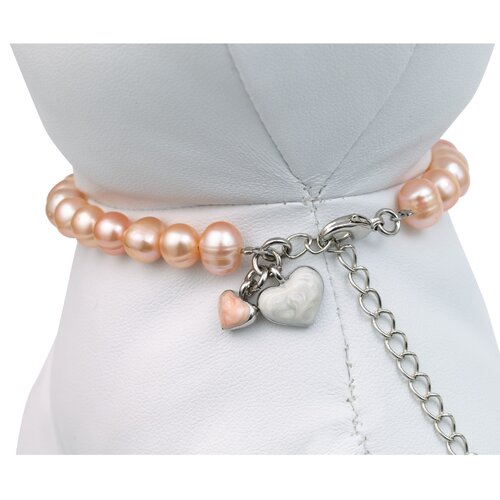 Unity™ Pet Necklace in Pink Pearls
