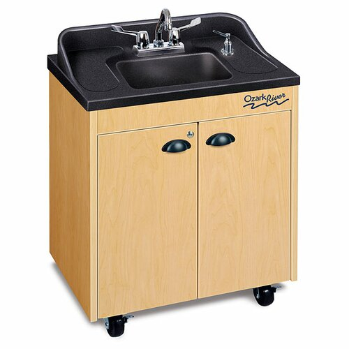"Ozark River Portable Sinks Lil' 26"" x 18"" Premier Portable Handwashing Station with Storage Cabinet"