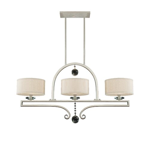 Wildon Home ® Canyon 3 Light Linear Chandelier Island Light