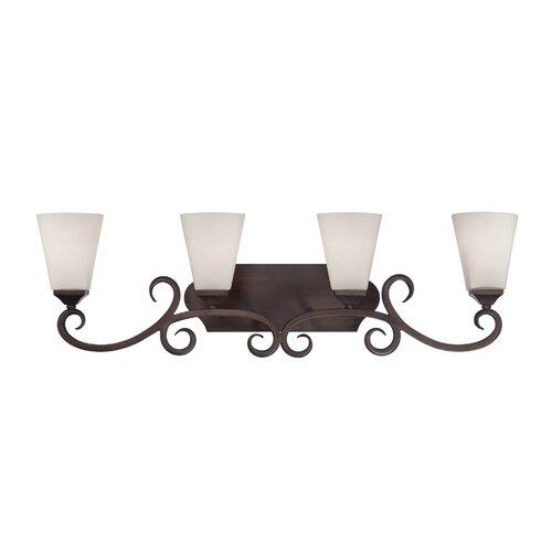 Wildon Home ® Fergus 4 Light Bath Vanity Light