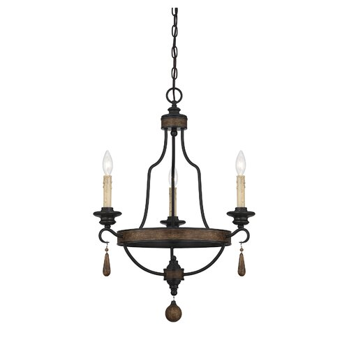 Kelsey 3 Light Candle Chandelier