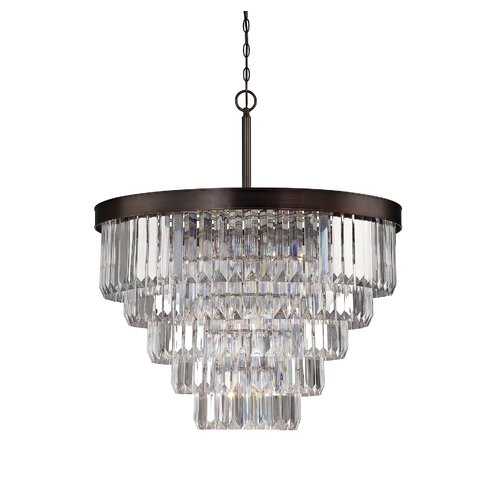 Wildon Home ® Tierney 9 Light Crystal Chandelier
