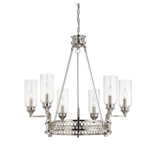 Wildon Home ® Coronado 6 Light Candle Chandelier