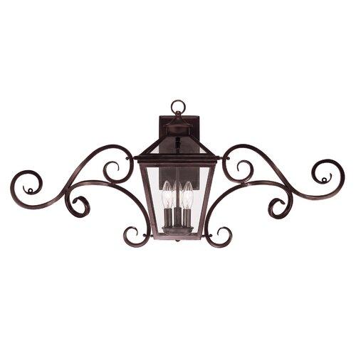 Wildon Home ® Ontario 3 Light Outdoor Wall Lantern