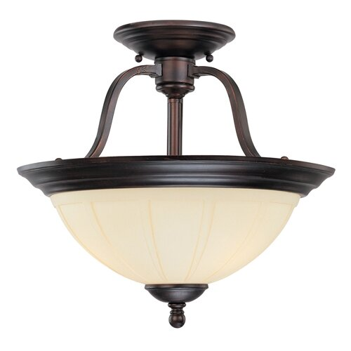 Wildon Home ® Asher 3 Light Semi Flush Mount