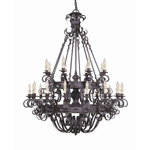 Wildon Home ® Bourges 24 Light Chandelier