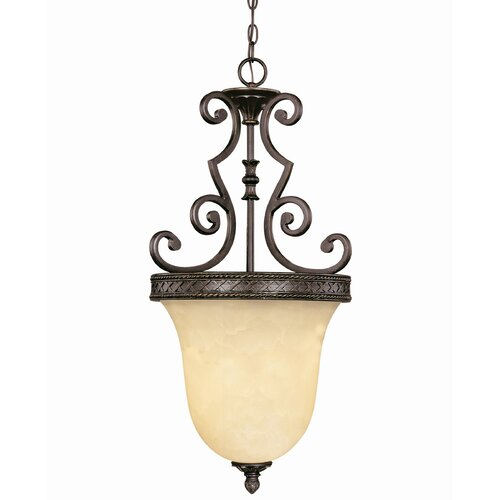 Wildon Home ® Knight 3 Light Bell Inverted Pendant