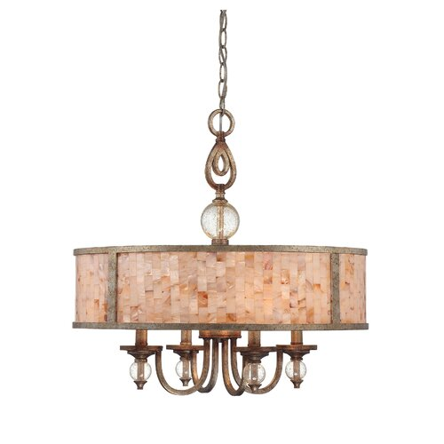 Wildon Home ® Acacia 4 Light Drum Pendant