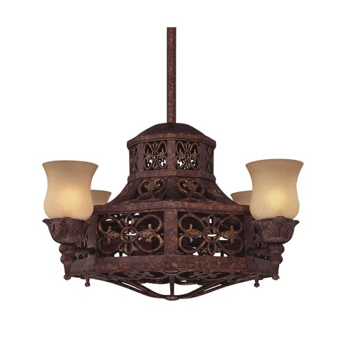 Naples 4 Light Island Fan Chandelier