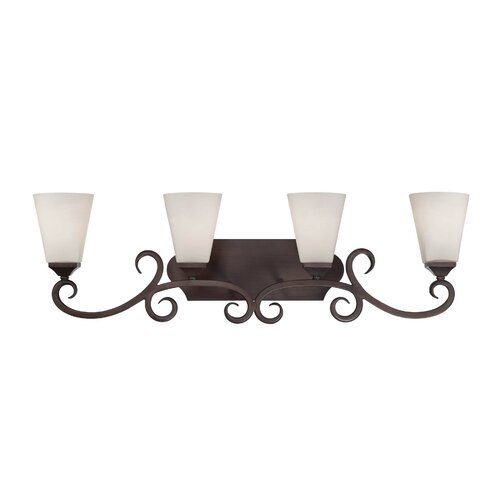 Wildon Home ® Fergus 4 Light Bath Vanity Light